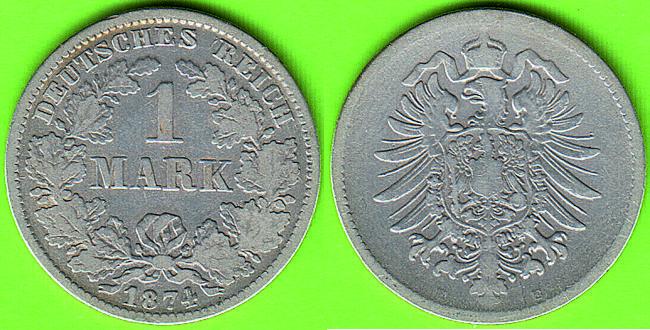 Deutsches Reich Kaiserreich 1 Mark 1874 E 12 Internet Shop Pfalz