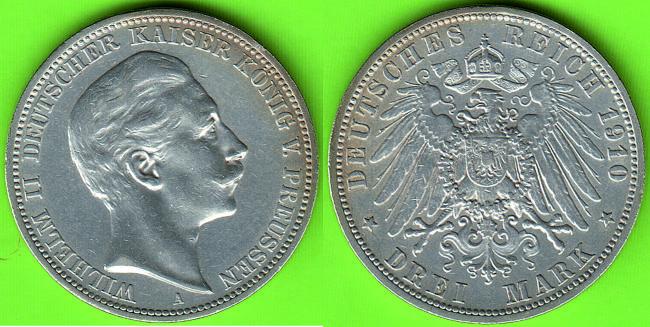 Deutsches Reich Wilhelm Ii Deutscher Kaiser König Von Preussen